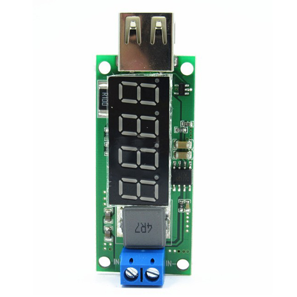 DC-DC boost module 3V3.7V4.2V to 5V2A rechargeable chargepad USB boost board digital tube display fast charge