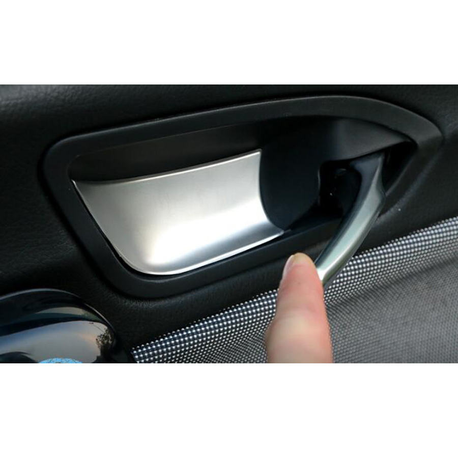 Stainless Steel 4x Car <font><b>Interior</b></font> Door Handle Bowl Cover Trim Sticker Styling For <font><b>BMW</b></font> 1 Series <font><b>116i</b></font> 118i 120i F20 13-15 image