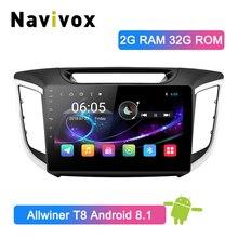 Navivox 10,1 «2 Din Автомобильный мультимедийный плеер gps радио Android 8.1.0 для hyundai IX25 CRETA с навигационной стерео аудио (Нет dvd)