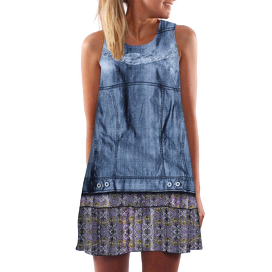 Vestidos 2018 Vintage Boho Kleid Frauen Reizvoller Sleeveless ...