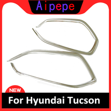 For Hyundai Tucson 2016 2017 2018 ABS Chrome Front Fog light Lamp Cover Trim Foglight Shade Frame Bezel Decoration