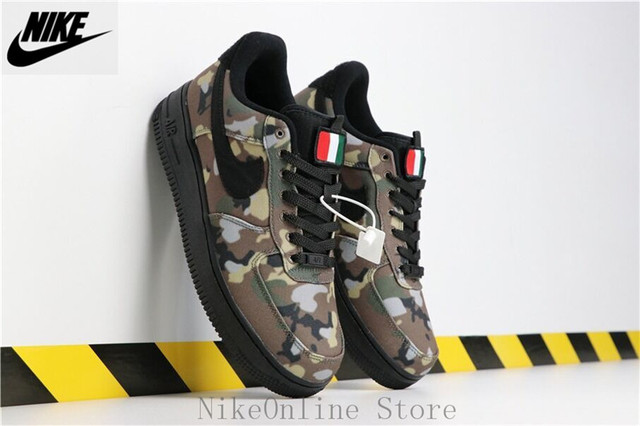 low cost e9409 b3361 Nike Air Force 1 Low Italy Country Camo Men And Women Shoes AV7012-200 Low  Top Sneaker Air Force 1 Sports Running Shoes EUR36-45