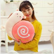WYZHY New creative cute snail pillow plush toy office chair cushion doll
