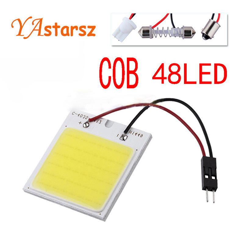 c5w cob 48 SMD chip w5w super White Reading Lamp led dome t10 Bulb led Car parking Auto Interior Panel Light Festoon car styling