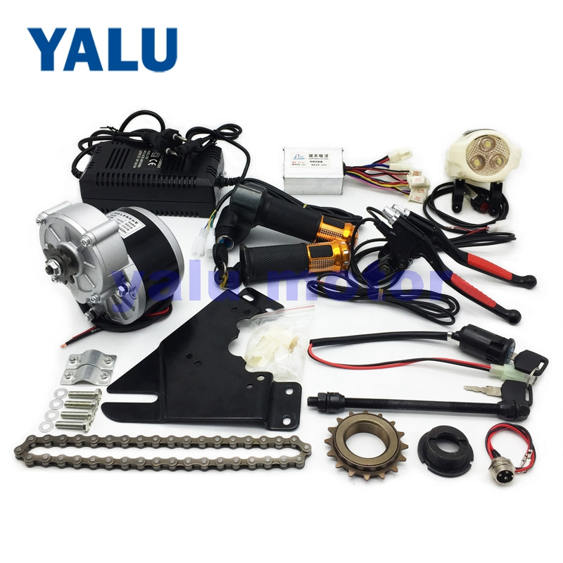 24V 250W Aluminum Brake Lever Bike Motor Set Electric Drive Ebike Conversion Kit E-Bicycle Kit Homemade DIY Folded Bike