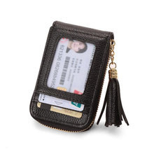 Womens card package tassel organ bag ladies multi-function portable coin purse female multi-card leather clip