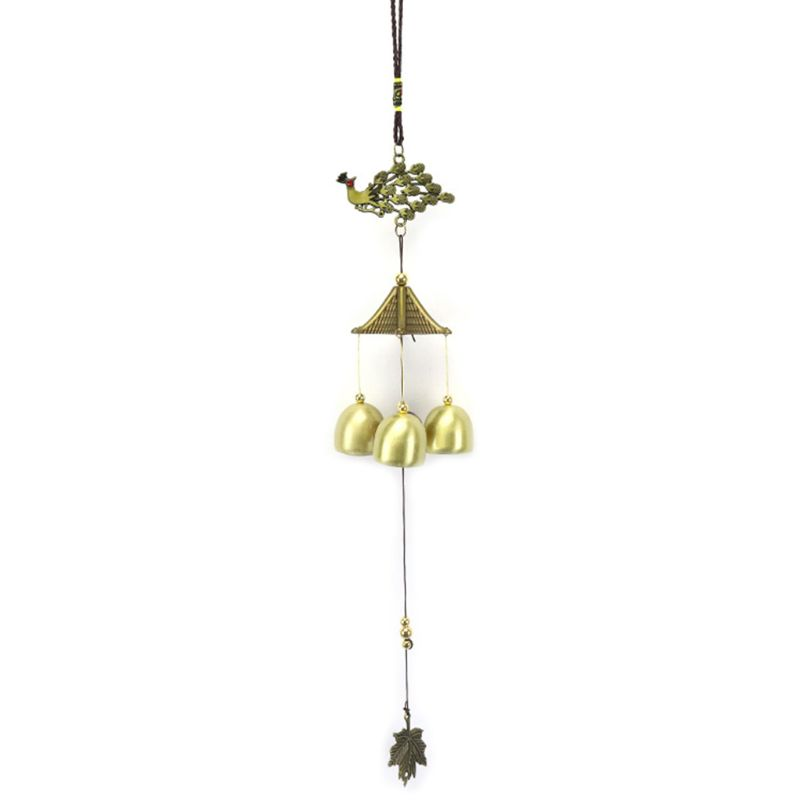 Wind Chime Vintage Peacock Anti Rust Bells Home Outdoor Yard Garden Wall Window Hanging Decoration thumbnail