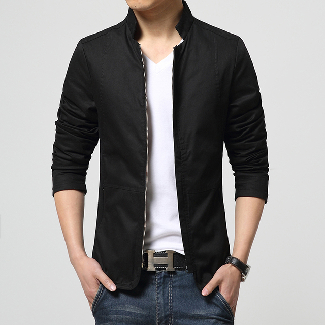 Men's Clothing Coats & Jackets 2017 New Male Casual Jacket Spring&Autumn Perfect Slim Outerwear Man Stand Collar Zipper Jackets
