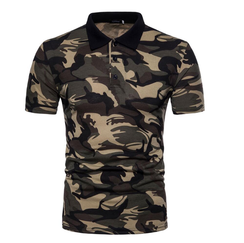 e26cc7e0749 ZOGAA Для мужчин s рубашка поло бренды 2019 камуфляж поло мужской с длинным  рукавом Повседневное Тонкий Военная Поло рубашка с воротником Для му.