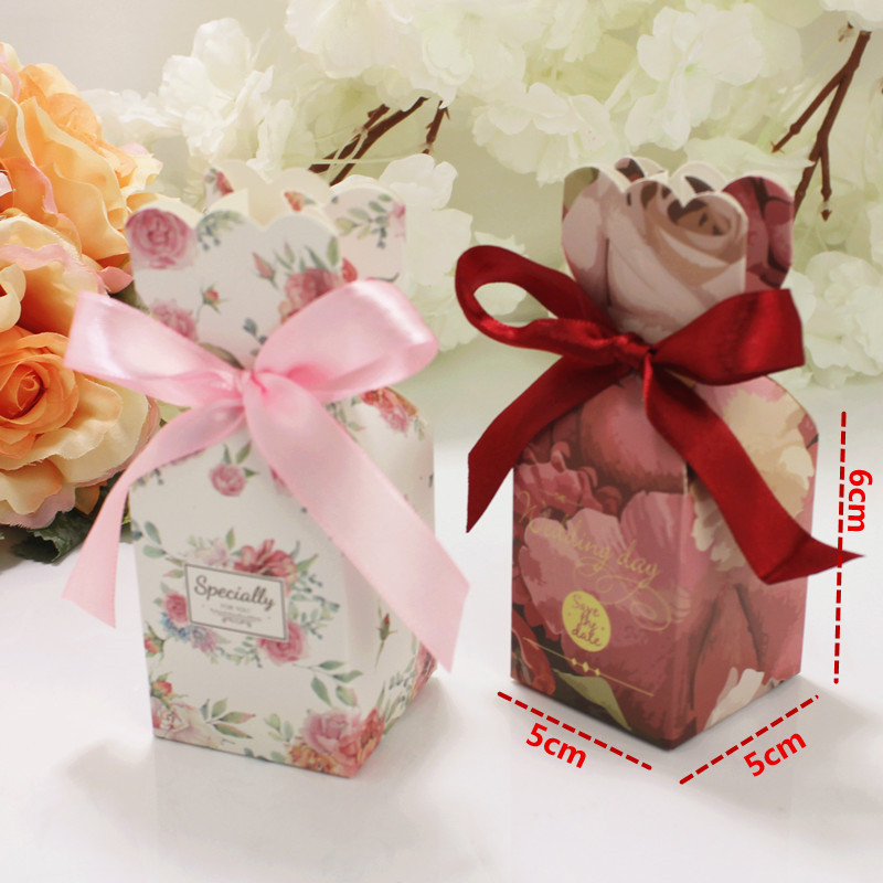 Wedding Favors And Gifts Box Paper Candy Box Chocolate Packaging Box Party Supplies Decorations Bomboniera Giveaways Boxes