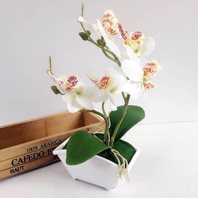 Online Shop Artificial Flower In Pots Artificial Potted Flower