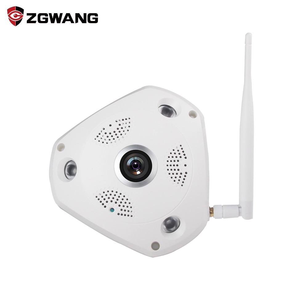 ZGWANG 360 Degree VR Panorama Camera Home Security IP Camera 3MP HD Night Vision Webcam CCTV