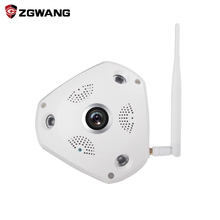 ZGWANG 360 Degree VR Panorama Camera Home Security IP Camera  3MP HD Night Vision Webcam CCTV Camera Baby Monitor vr Camera