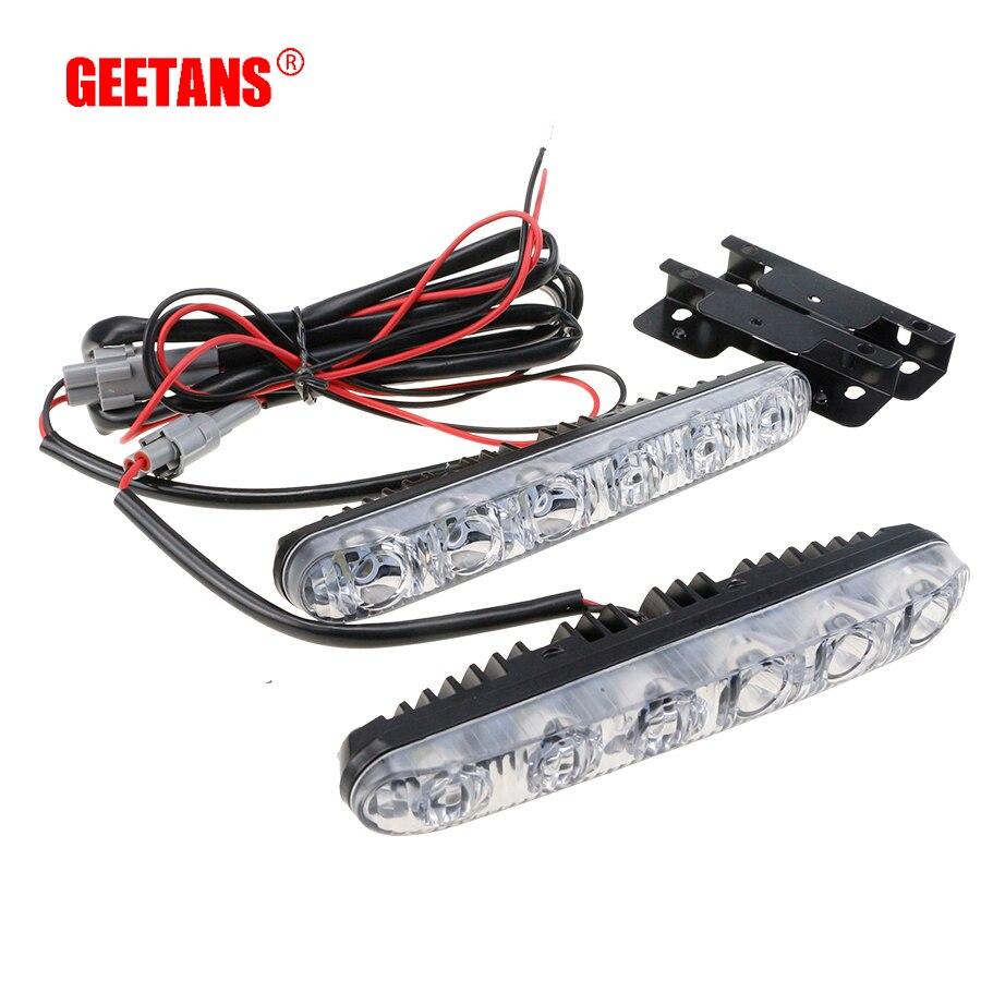 GEETANS 2 PCS LED 12 V 6000 K Voiture Conduite de Jour Running Light Haute faisceau/Bas Faisceau DRL Brouillard Lampe Pour Voitures Étanche Lumière Blanche H