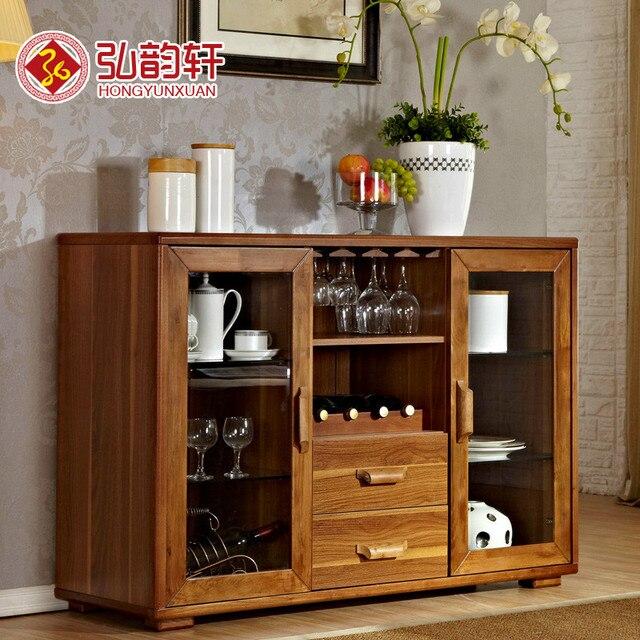Moderna cinese di legno credenza da cucina minimalista armadi armadi ...