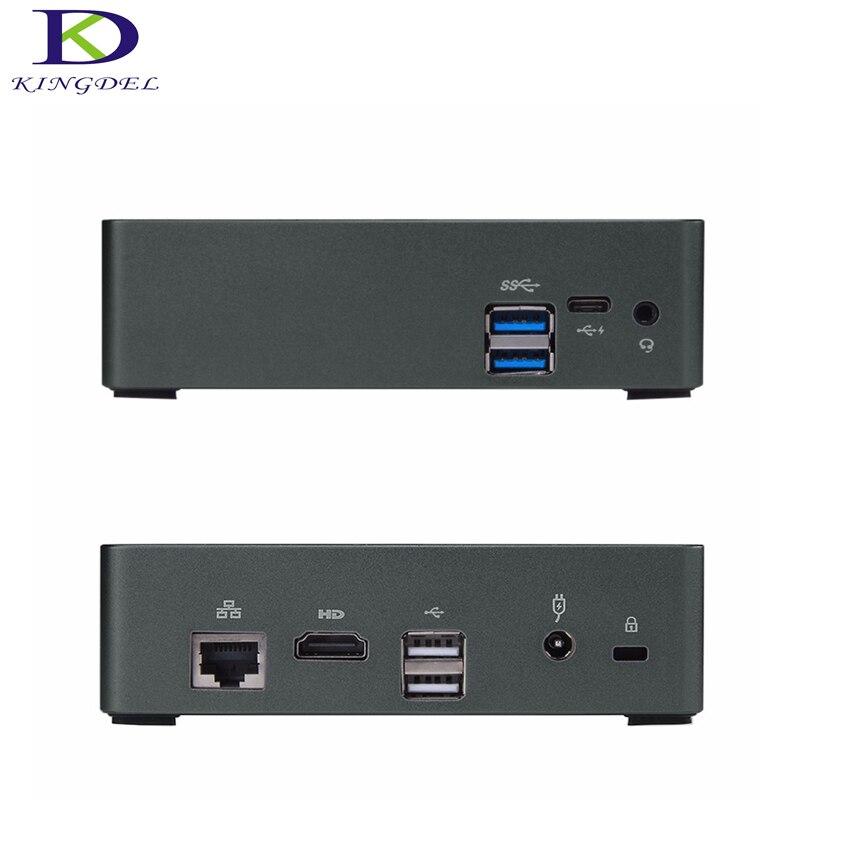 Kingdel DDR4 Mini PC 8th Gen Intel Core I7 8550U I5 8250U Quad Core HDMI Type-C NGFF SSD