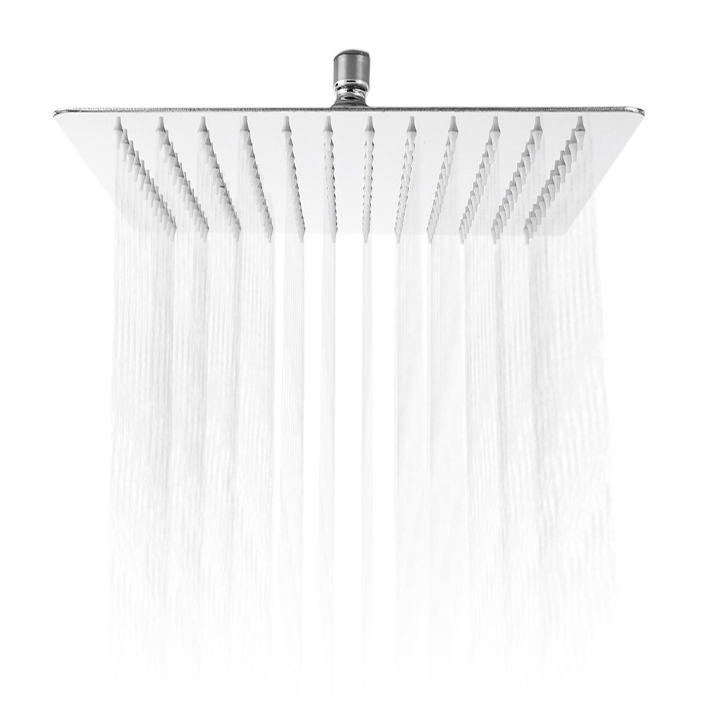 12 Inch Ultra Thin Square Stainless Steel Rainfall Shower Head Top Shower Bathroom Stainless Steel Tool Part With Swivel Adapter12 Inch Ultra Thin Square Stainless Steel Rainfall Shower Head Top Shower Bathroom Stainless Steel Tool Part With Swivel Adapter