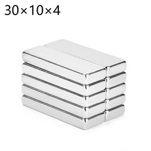 Hot Useful 1pcs Block Super Strong Cuboid Magnets Force Rare Fridge Neodymium 30x10x4mm Free Shipping APS0514