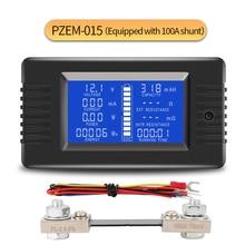 Peacefair Battery Tester Discharge Capacity Power Ammeter Voltmeter Energy Meter Impedance Resistance PZEM 015 200v 100A shunt