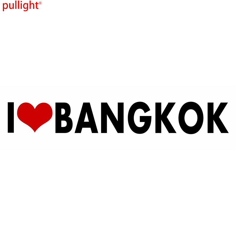 Bangkok I Love Stickers Heart Decal Vinyl Bumper Decor Car Thailand