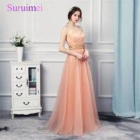 Hình Ảnh thực tế Kim Cương Giả Lấp Lánh Đào San Hô Màu Evening Đảng Dresses Dài Ruched Orange Giá Rẻ Long Prom Dresses Navi
