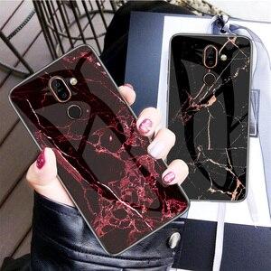 Image 2 - Cao Cấp Đá Cẩm Thạch Kính Cường Lực Điện Thoại Dành Cho Nokia X6 X7 X71 Cứng Nhám Giành Cho Nokia 7.1 7 1 4.2 3.1 plus Coque Silicone Capa