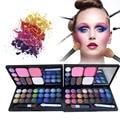 Maquillaje profesional Set Pro 28 Full Color Eye shadow colorete polvos rostro cejas paleta de polvo cosméticos del Kit Kit completo A2