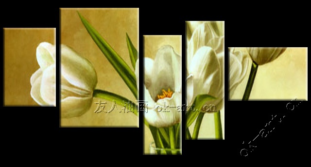 Wall decor paintings tulipans