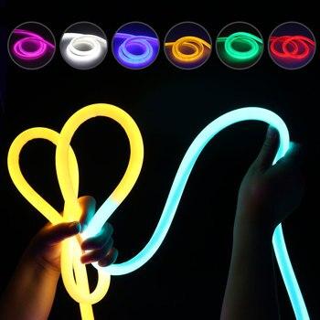 14 мм светодио дный неон полосы света AC220V 2835 круглый Форма мягкий неоновый ленты бар свет с Мощность разъем 1 м 2 м 3 м 4 м 5 м 10 м @