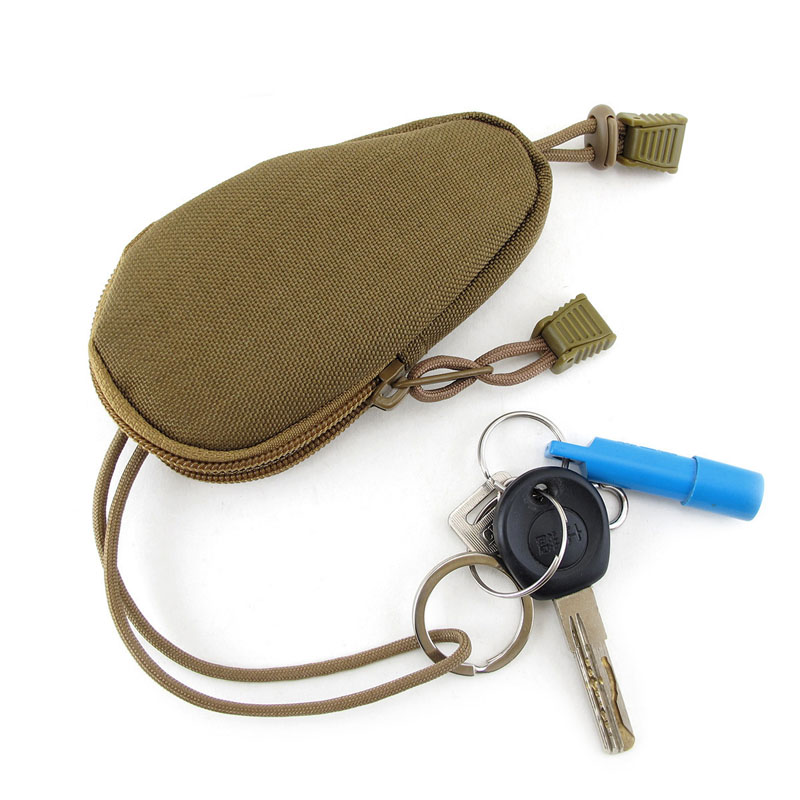 Oxford Fabric Waterproof Hard-wearing Camouflage Tactics Vice Accessories Military Enthusiasts Key Bag LT88 or fabric camouflage leaf headgear