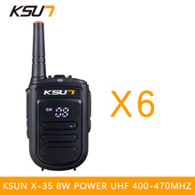 6 PCS BUXUN X-35TFSI Walkie Talkie 8W Handheld Pofung UHF 8W 400-470MHz 128CH Two way Portable CB Radio