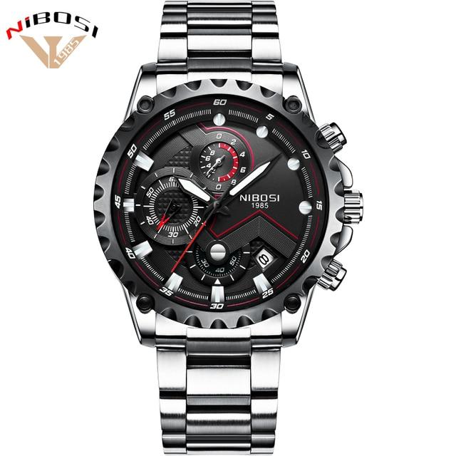 4a030c07ae Men Military Watch Waterproof Quartz Analog Watches Mens Stainless Steel  Band Date Clock Men Luxury Brand Sport Watch Men Black