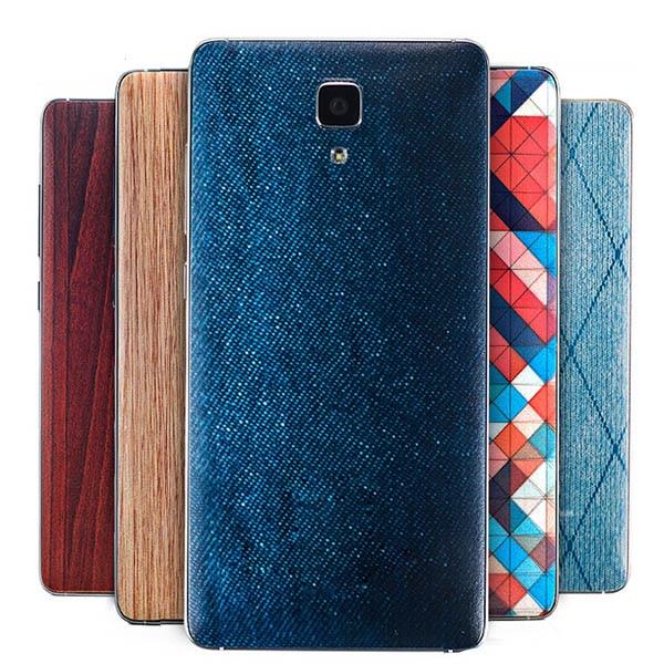 För Xiaomi mi4 batterilucka m4 Bambustil batterilucka Cowboy linjer - Reservdelar och tillbehör för mobiltelefoner