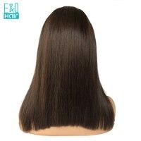 Боб парик с 4*4 шелк база 8 14 дюймов прямые Синтетические волосы на кружеве человеческих волос парики для Для женщин перуанский волосы remy отбе