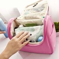 JJDXBPPDD New Women Large Waterproof Makeup Bag Nylon Travel Cosmetic Bag Organizer Case Necessaries Make Up