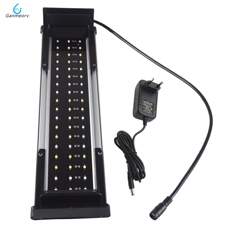 30 50cm 11W Aquarium LED Lighting Fish Tank Light Lamp with Extendable Brackets 36 White and