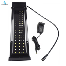 35-50cm 11W Aquarium LED Lighting Fish Tank Light Lamp with Extendable Brackets 36 White and 18 Blue LEDs Fit for Aquarium decro