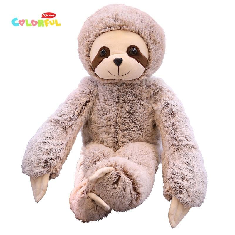 1PCS 50/70cm Simulation Sloth Plush Stuffed Toy Cute Soft Lifelike Animal Doll Kids Baby Toy Birthday Present