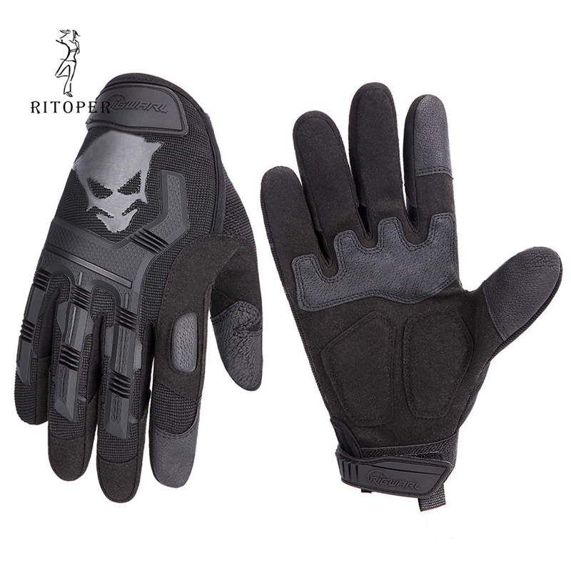 RITOPER Unisex más gruesos guantes sin dedos para hombre de lana de Invierno