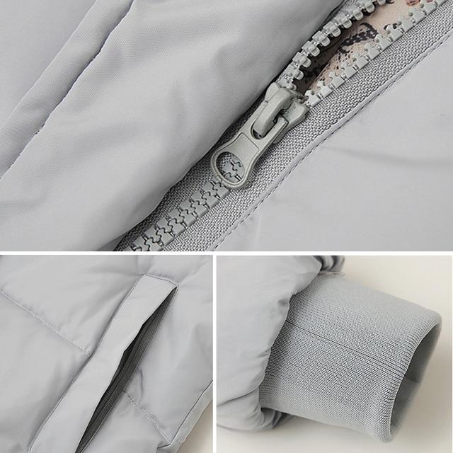 2018 hot sale women winter hooded jacket female outwear cotton plus size 3XL warm coat thicken jaqueta feminina ladies camperas