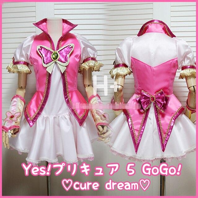 Довольно вылечить Nozomi yumehara Косплей Костюм cure мечта платье индивидуальный заказ