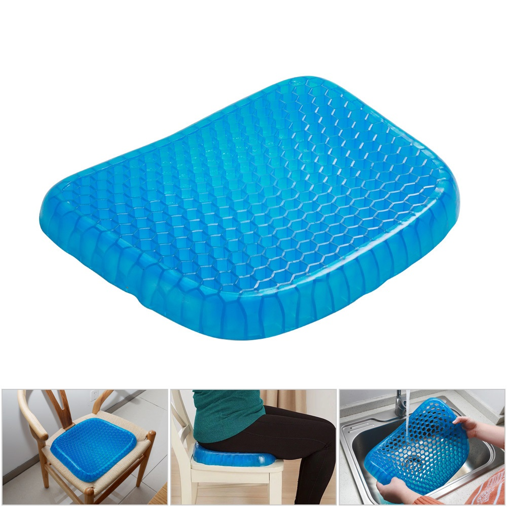 Big Size Flexible Gel Seat Cushion for Baby Adult Comfortable Car Cushion Health Care Pain Release Pad Breathable Mat for Summer подушка