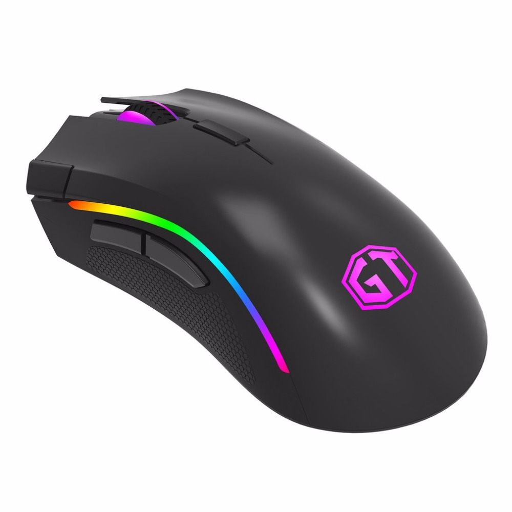 Delux M625 A3050 USB Gaming Mouse One-piece Design With Awesome RGB Light Matt ABS Shell Classic Black Mouse (get coupon)