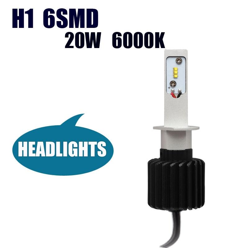 H1 LED Far Kamyon Otomobil Dış Işık LED H1 Yüksek Güç 20 W LED - Araba Farları