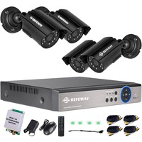 DEFEWAY 1080N P2P 4 Channel System Video Surveillance DVR KIT 4PCS Outdoor IR Night Vision 1