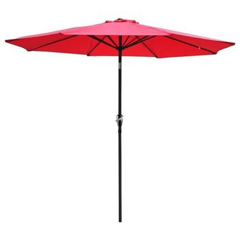USA Stock 2.7M Hand-cranking Style Waterproof Folding Sunshade Red Support USPS