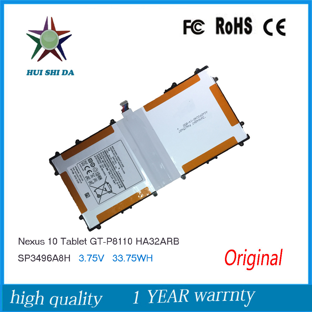 3.75V 9000mAh New Original Battery for Samsung Google Nexus 10 GT-P8110 HA32ARB SP3496A8H P8110 уличный светильник brilliant istria арт 48685 06