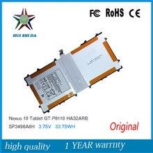 3.75 В 9000 мАч новый оригинальный аккумулятор для samsung google nexus 10 gt-p8110 p8110 ha32arb sp3496a8h