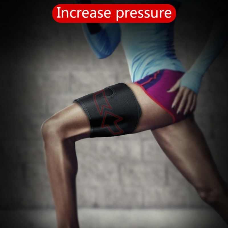 121b2a9aa13b2f ... Running Sport Anti-muscle strain Protector High Elastic Adjustable  Compression Leg Warmers Sports Thigh Upper ...
