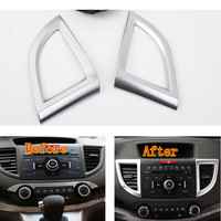 2 Pcs Pair Auto Air Condition Vent Outlet Cover Trim ABS Frame Decoration For CRV CR